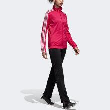 阿迪达斯adidas 运动套装女款 小脚休闲裤 春秋跑步外套 羽毛球服 CY3518 XXL码 粉/黑