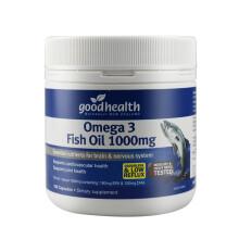 goodhealth/好健康 深海鱼油软胶囊 欧米伽3 DHA成人 角鲨烯软磷脂 深海鱼油1000mgx150粒 1瓶装