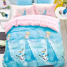 京东超市 迪士尼(Disney)  四件套卡通1.5米床儿童学生宿舍公主风床品 艾莎公主(蓝色)