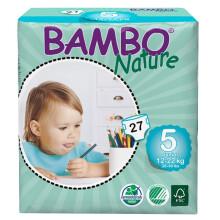 班博(BAMBO) 自然系列 宝宝婴儿透气纸尿裤尿不湿 5号(12-22KG)27片 L码 丹麦原装