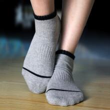 依琦莲瑜伽袜子男女通用防滑硅胶树脂颗粒地板袜长筒运动袜子五指袜 w28灰色