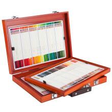 真彩(TRUECOLOR)108色专业油性彩色铅笔彩铅套装 涂色填色彩笔绘画上色笔 高档木盒/2399