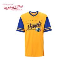 Mitchell Ness女士运动连衣裙 NBA黄蜂 短袖T恤裙 黄色/蓝色 S/M(160/88A)