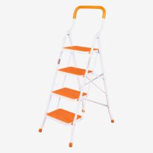 宝优妮 梯子家用加厚室内多功能人字梯铝合金四步家庭登高梯折叠梯DQTY04-C