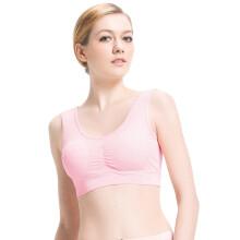 小护士 文胸 无钢圈文胸背心 女运动文胸大码内衣SMB016胸垫可卸 温柔粉 L(170/100)