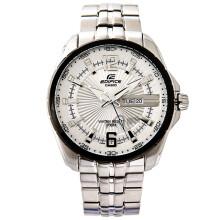 【全国联保】卡西欧(CASIO)手表 EF系列精大表盘石英运动男表 日历防水钢带手表 EF-131D-7A