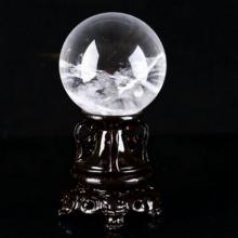 妃晶 白水晶球摆件 天然水晶球摆件风水球摆件 紫水晶粉水晶球 家居饰品时尚家用摆件 白球4cm