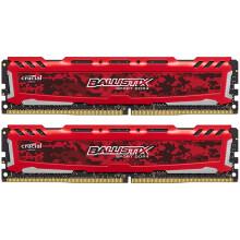 英睿达(Crucial)铂胜运动LT系列DDR4 2400 16G(8Gx2 套装)台式机内存 迷彩红