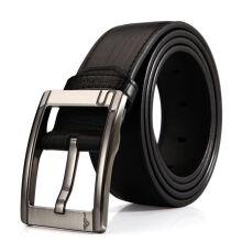 七匹狼(SEPTWOLVES)男士皮带 闪购特卖 英伦时尚针扣腰带男款 黑色7A1203700