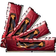 芝奇(G.Skill) Ripjaws 4系列 DDR4 3000频率 16G (4G×4)套装 台式机内存(法拉利红)