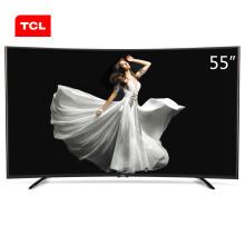 TCL D55A920C 55英寸 高色域曲面八核安卓智能LED液晶电视机(黑色)