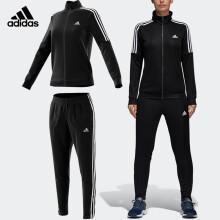阿迪达斯adidas 运动服套装女款春秋款长袖外套篮球服跑步休闲长裤羽毛球服 BK4695 XXL码 黑色