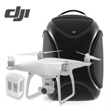 【现货】大疆DJI精灵4无人机 Phantom4专业航拍四轴飞行器 4K高清相机遥控飞 大疆精灵4无人机+多功能背包+电池