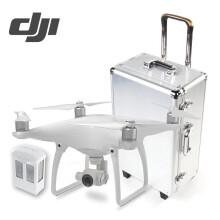 【现货】大疆DJI精灵4无人机 Phantom4专业航拍四轴飞行器 4K高清相机遥控飞 大疆精灵4无人机+电池+拉杆铝箱