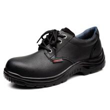 强人 ZC6006 际华3515钢头钢底安全鞋LA认证防砸防穿刺功能防护男鞋低帮劳保男工地皮鞋 黑色 40码