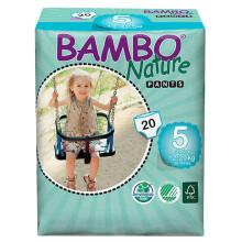 班博(BAMBO) 自然系列进口婴儿拉拉裤 学步裤 5号(12-20KG)20片 L码 丹麦原装