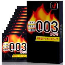 日本进口冈本(Okamoto)003火辣热感安全套超薄性爱避孕套10片装 套套男用女用成人情趣计生用品