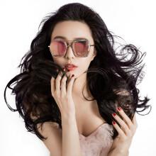 帕莎 Prsr太阳镜女时尚偏光明星同款炫彩墨镜潮圆脸 B6784炫彩粉