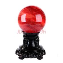 妃晶 白水晶球摆件 天然水晶球摆件风水球摆件 紫水晶粉水晶球 家居饰品时尚家用摆件 红球12cm