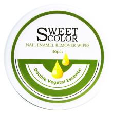Sweet Color 卸甲巾 植物精油卸甲 36片装 (洗甲水卸甲棉二合一 不干涩不伤手 清洁甲油 滋润便携 )
