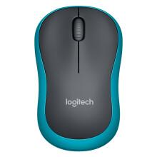 罗技(Logitech)M185(M186) 无线鼠标 黑色蓝边