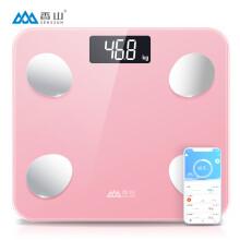 香山 智能体脂秤 电子秤 家用精准体重秤 人体秤 45项身体数据监测 蓝牙APP控制 云姿(玫瑰金)