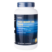 美国进口 健安喜(GNC)深海鱼油软胶囊180粒 成人营养健康 欧米伽3