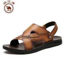 骆驼牌 夏季男款透气休闲沙滩凉鞋 黄色 41