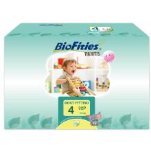 爱婴舒坦(BioFities) 自然天使系列拉拉裤 4号 (9-14公斤) 32片L码 原装进口