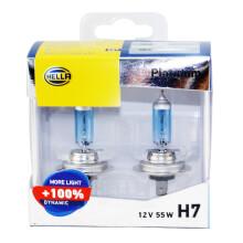 海拉(HELLA)  汽车灯泡/大灯灯泡/近光/远光/卤素/升级灯泡 H7 增亮100% 3700K