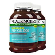 海囤全球              澳佳宝(Blackmores)深海鱼油软胶囊欧米伽3 无腥味400粒 2瓶调节三高软化血管