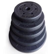 虹博实重足重包胶哑铃片  环保杠铃片 2.8-3.0通用片  健身器材 10斤1片(5KG)