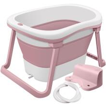 世纪宝贝(babyhood)浴桶 儿童沐浴桶婴儿洗澡盆二合一 宝宝加大可折叠洗澡桶 紫色 BH-319
