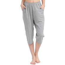 小护士 家居裤 女士舒适七分睡裤居家短裤ZSK004宽松大版 灰色 L(170/100)