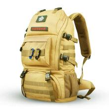 顿巴纵队户外登山包50L双肩背包多功能电脑背包 泥色 赠品颜色随机 50L