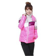 李宁LI-NING 女士冬季保暖加厚 型家居羽绒服 AYME118-2 粉色 XL