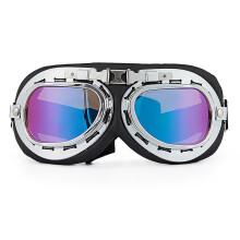 GXT哈雷机车摩托车风镜男女士骑行眼镜挡风镜复古盔防风镜防尘护目镜 彩色