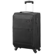 美旅AmericanTourister拉杆箱  经典简约商务防泼水万向轮密码锁登机行李箱 软箱20英寸大容量可扩展26B黑色