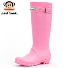 大嘴猴雨鞋女式高筒时尚防水雨靴胶鞋水鞋套鞋1015 粉红 37码