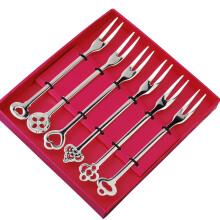 京东超市 宜洁 勺子不锈钢中号餐勺调羹西餐勺不锈钢叉6支装Y-9849