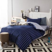 伊雅静家纺 全棉单人床上用品三件套床单被套枕套学生宿舍三件套纯棉床品套件 适用1.2米床 爵士先锋