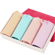 恒源祥女士内裤 女棉质弹力舒适性感包臀中腰三角裤女混色四条礼盒装G0215 160(M)
