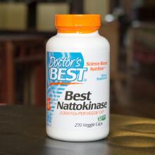 京东国际美国直邮Doctor's Best多特倍斯 纳豆激酶素食胶囊 溶解血栓 270粒