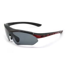 拓步TSR818骑行眼镜偏光 户外运动眼镜护目镜太阳镜带近视镜框 开车司机驾驶镜防尘防风沙骑行眼镜男女款 蓝 TSR818偏光款--黑红