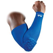 Mcdavid迈克达威压缩护臂护肘 男女蜂窝防撞防摔篮球橄榄球健身 6500R 宝石蓝 S 22-27CM上臂周长
