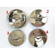美克杰 海马福美来323M6S5轮毂盖轮胎中心标志轴头盖车轮标盖 4款平面6.0银色 数量1个