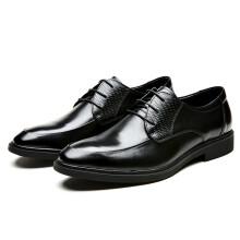 金利来(goldlion) 男鞋 正装鞋舒适鞋牛皮鞋简约轻便皮鞋571710052ADB-黑色-40码349元(双重优惠后)