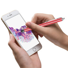 ESCASE iPad电容笔 iPad触控笔 通用苹果安卓平板和手机手写笔 赠送挂绳 中国红