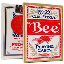 美国原装进口小蜜蜂扑克牌成人纸牌批发小蜜峰Bee德州扑克 2副装(红蓝各1付)
