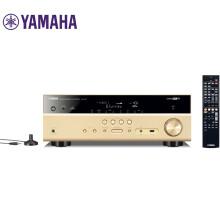 雅马哈(Yamaha)音响 音箱 家庭影院 AV功放 5.1声道数字功率放大器 USB/支持4K超高清/自动声场优化 RX-V477 金色